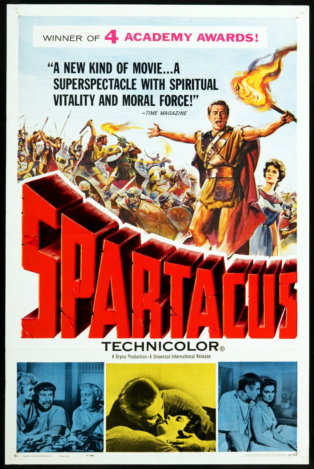 The original Spartacus movie poster