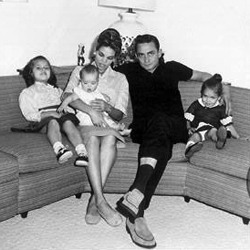 The Cash family in the 60s. L-R: Kathleen, Tara, Vivian, Johnny and Cindy