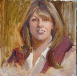"Kat was honored as one of ""The Faces of Ventura."" Portrait by renowned local artist Johanna Spinks."