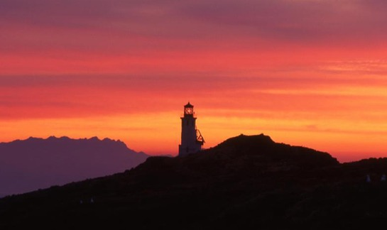 The Anacapa Island Lighthouse at sunset